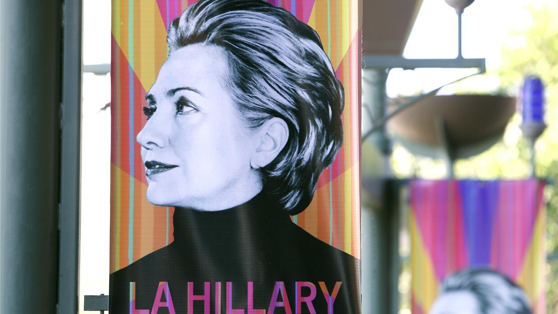 Cartel de la campaña de Hillary Clinton en San Antonio, Texas