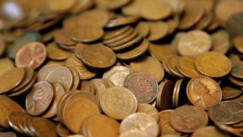 Monedas de un centavo.
