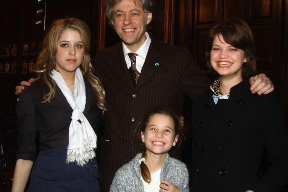 Bob Geldof pidió entonces la custodia de Tiger Lily, a quien vemos con s...