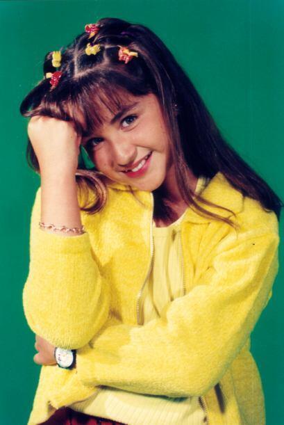 Daniela Luján tenía 8 años y una cara muy simp&aacu...