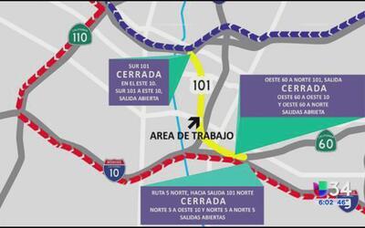Detalles de los importantes cierres viales este fin de semana en Los Ang...