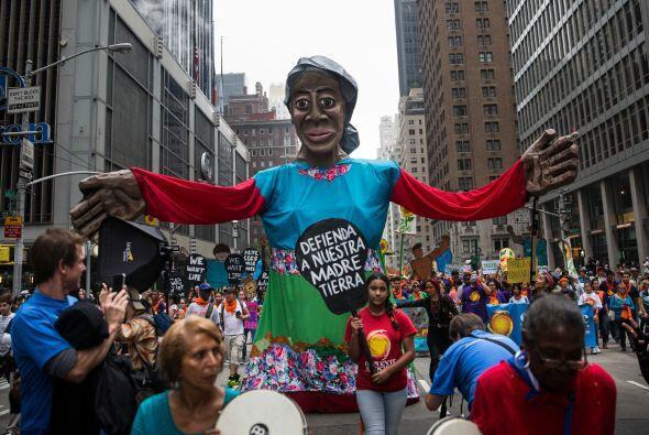 La manifestación se celebra dos días antes de que Naciones Unidas acoja...