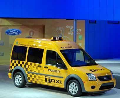 Ford Transit Connect El mencionado Taxi de Ford que funciona a gas natur...