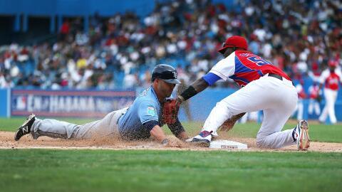 Juego entre Tampa Bay Rays y Cuba en La Habana
