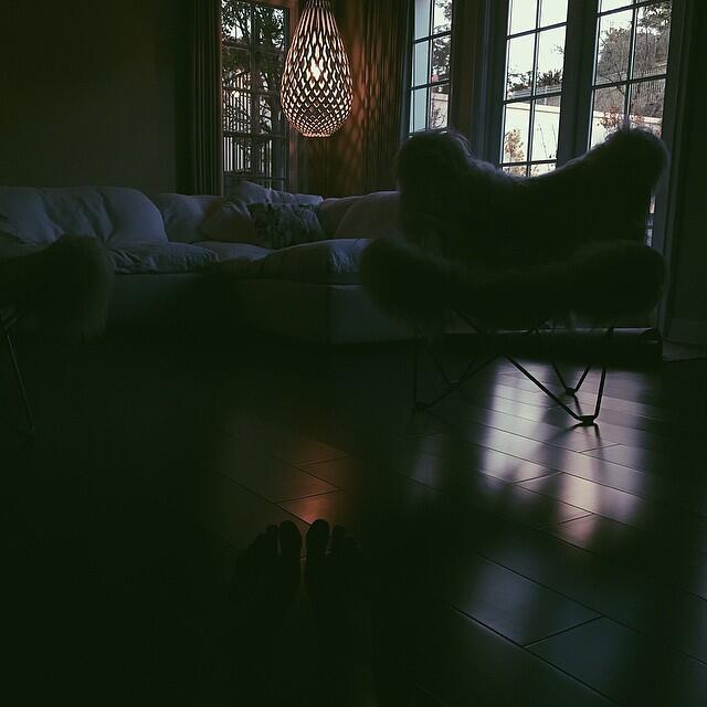 Kyle Jenner en su casa