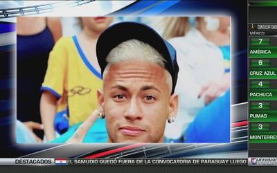 Neymar está cada vez más parecido a Messi, ahora se platinó el pelo como...