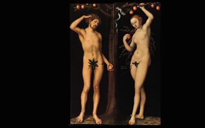 'Adán' y 'Eva', obras del pintor renacentista Lucas Cran...