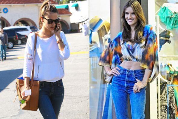 La 'top model', Alessandra Ambrosio, como cualquier mamá, se preocupa po...