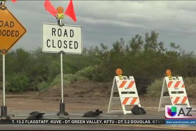 Fuertes lluvias caen en Condado Maricopa