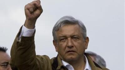 El aspirante a la candidatura presidencial de las izquierdas, Andrés Man...