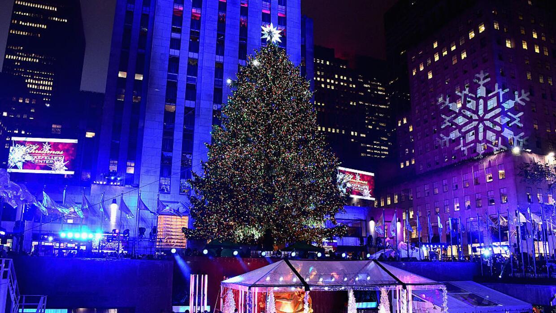 Así fue el encendido del árbol navideño de Rockefeller el año pasado, el...