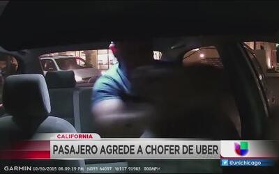Pasajero agrede a chofer de Uber