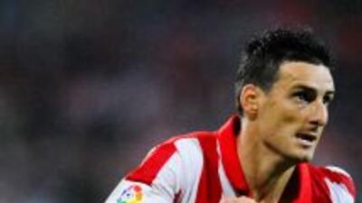 Aduriz hizo uno de los seis del Athletic de Bilbao.