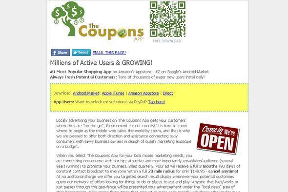 THE COUPONS APP - Localiza tu ubicación y luego encuentra cupones de ven...