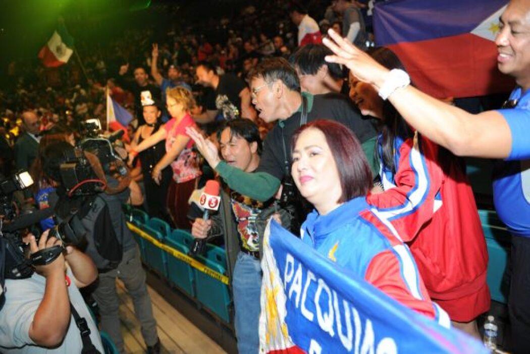 Cientos de filipinos se dieron cita en el MGM Grand.