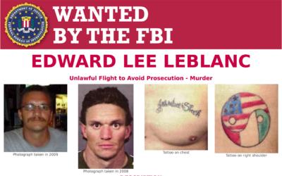 Estas son las imágenes de Leblanc que el FBI publicó en su búsqueda del...