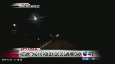 Residentes avistan el paso de un meteoro