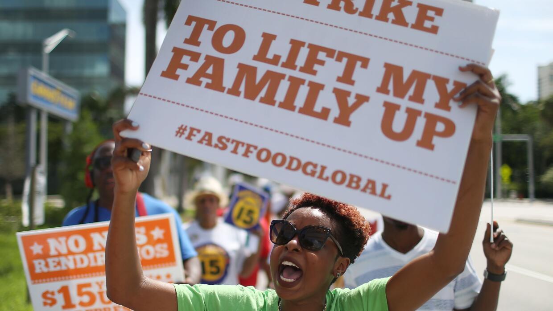 La lucha por el salario mínimo en Estados Unidos.
