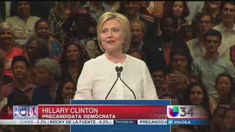 Hillary Clinton se siente segura como candidata demócrata