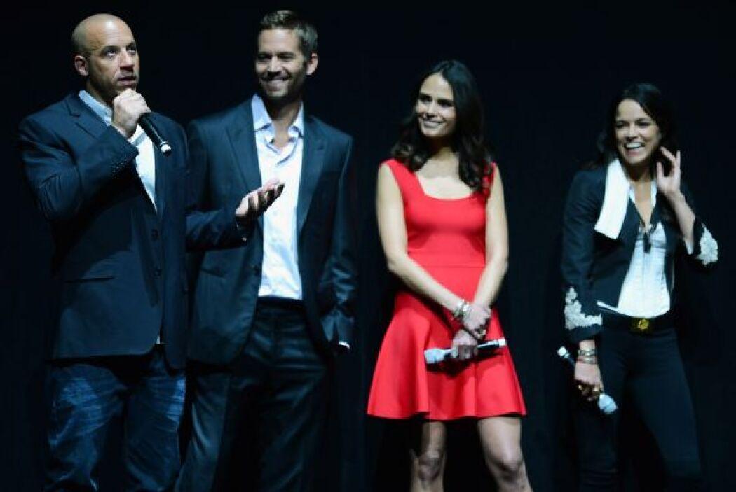 Llegó el momento de presentar la sexta parte junto a Vin Diesel, Jordana...
