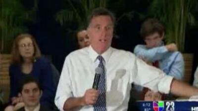 Mitt Romney visitó a Miami buscando apoyo