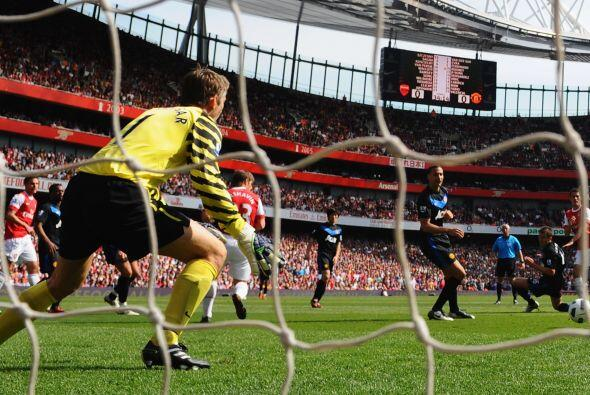 Aquella tarde, Ramsey estuvo inspirado y marcó su primer gol de l...