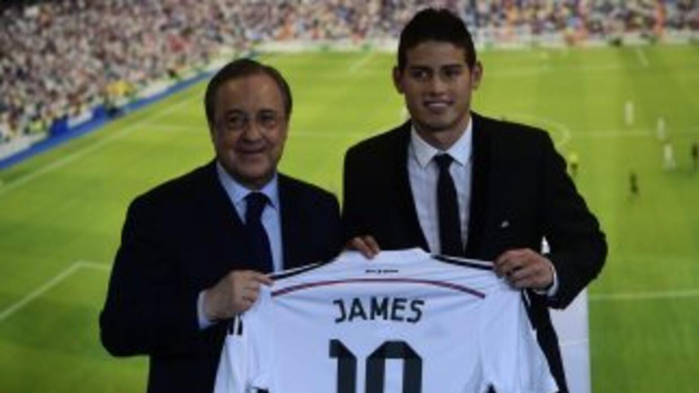 James Rodríguez presentado con Real Madrid