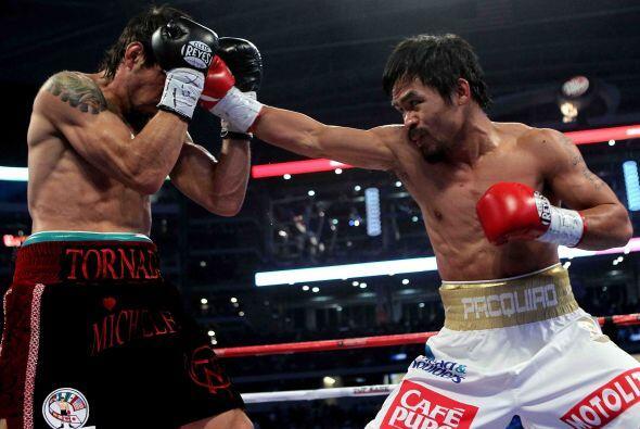 Manny Pacquiao: el filipino de 31 años de edad, llenó dos veces en Cowbo...