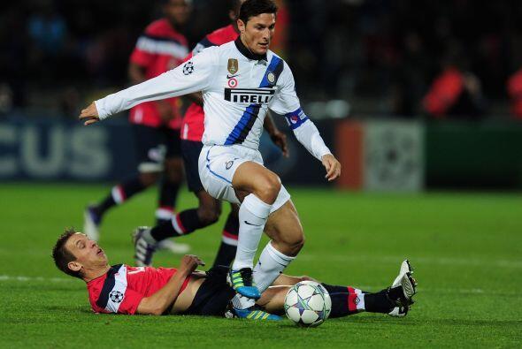 Por otra parte, en Francia, Inter visitó al Lille y volvió...