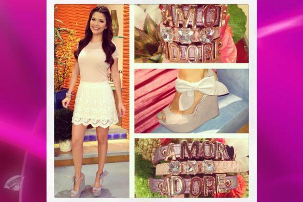 Ana Patricia es toda una muñeca. Los zapatos no pueden ser m&aacu...