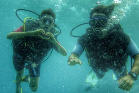 """Diving love #Baros #Maldives"", compartió Ana. (Julio 2, 2014)"
