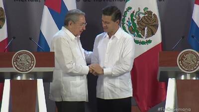 Concluye visita de Raúl Castro a México