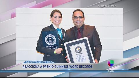 Honrado Gilbertito Santa Rosa con un premio Guinness