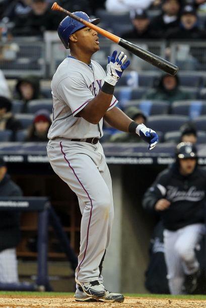 Mención especial para el tercera base dominicano de los Rangers,...