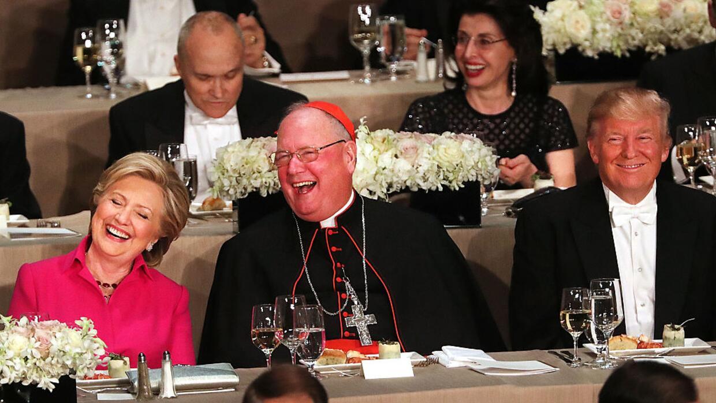 Trump y Clinton en cena de humor