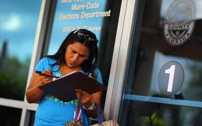 Florida es uno de los estados donde el voto hispano puede tener m&aacute...