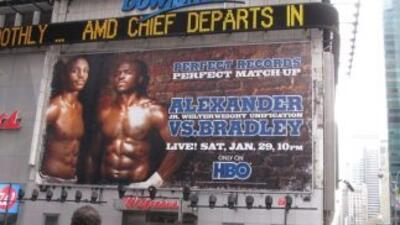 Cartel de la pelea Timothy Bradley y Devon Alexander.