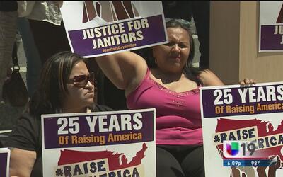 Arrestos en protesta de trabajadoras de limpieza
