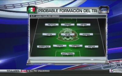 Probable formación del 'Tri' ante Chile
