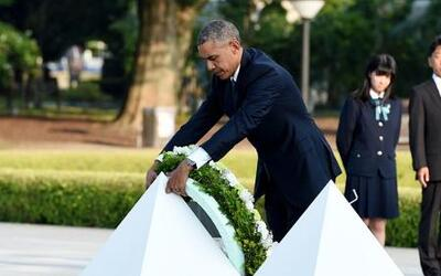 Obama visitó el parque Memorial de la Paz de Hiroshima