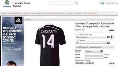 Ya estaría a la venta la playera del Real Madrid con el número del Chich...