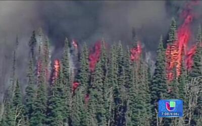 Evacuaciones por incendios en Estados Unidos