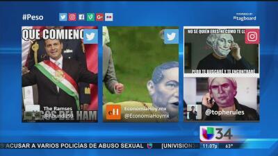 La caída del peso mexicano inspira el humor en redes sociales