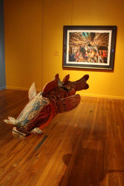 Esta exposición muestra una amplia gama de máscaras artesanales de los e...