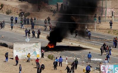 La protesta de los mineros bolivianos terminó siendo violenta