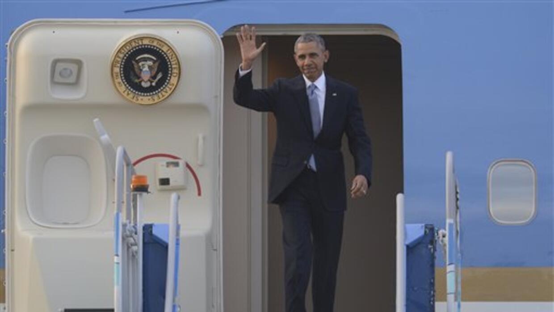 El presidente Barack Obama a su arribo a Turquía.