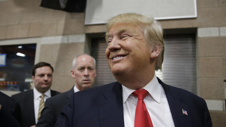Donald Trump tras conocer su victoria en el caucus de Nevada