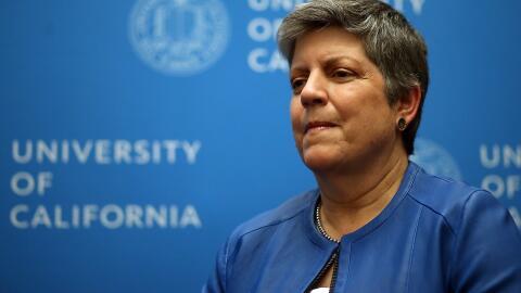 La presidenta de la Universidad de California, Janet Napolitano