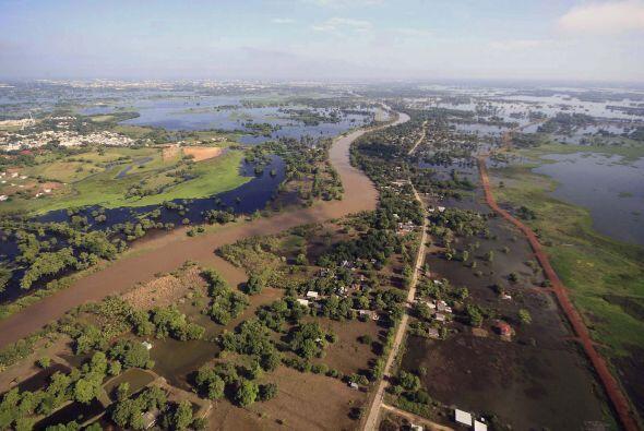 Las aguas del Golfo de México podrían cubrir el territorio...
