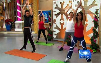 Johnny conoció una nueva forma de hacer ejercicio con Yoga.